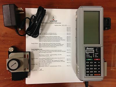 Baxter AS50 Syringe Pump Patient Ready w/ AC adapter, pole clamp, bumpers