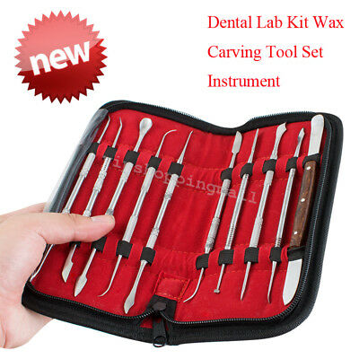 FDA New Dental Lab Stainless Steel Kit Wax Carving Tool Set Instrument Dentist