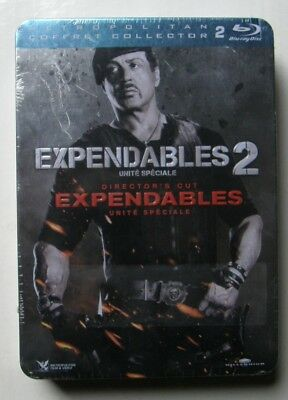 COFFRET 2 BLU RAY EXPENDABLES 1 & 2 - Sylvester STALLONE - STEELBOX -NEUF SCELLE