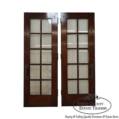 Vintage Pair of Mahogany Double French Doors (A)
