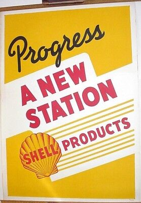 Shell Poster from the 1960's Advertising a New Station
