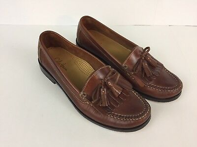 ee996ece4d4 Cole Haan Dwight Men s Brown Leather Tassel Loafers NICE CONDITION! 9.5 M