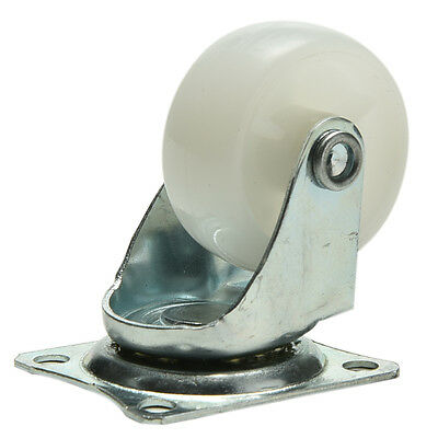 """Practical 1.5"""" Plastic Wheel Rectangle Top Plate Fixed Swivel Caster Set LY"""