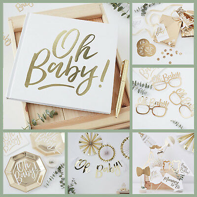 OH BABY! BABY SHOWER DECORATIONS - Tableware Range Gender Neutral Gender Reveal