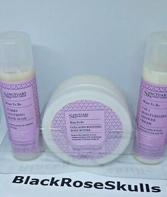 Sanctuary Spa Mum To Be Pure Pamper Set Collagen/Butter/Shower/Cream/Bath/NEW