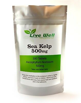 Sea Kelp Tablets 500 mg, High strength for healthy skin & cognitive function.