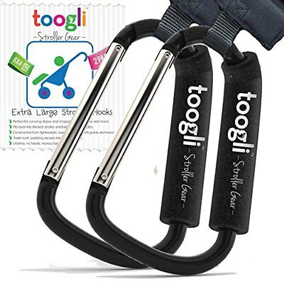 The BETTER XL Stroller Hook Set By Toogli. Two Great Organizer Baby Accessori...