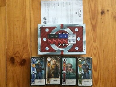 4x GWENT KARTENSPIEL WITCHER 3 BLOOD AND WINE HEARTS OF STONE LIMITED EDITION