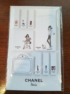 Chanel Paris Post It Notes/Sticky Notes - 9 Exclusive Collectible Designs