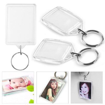 Passport Photo Size Blank Plastic Clear Keyrings Insert 35mm x 45mm