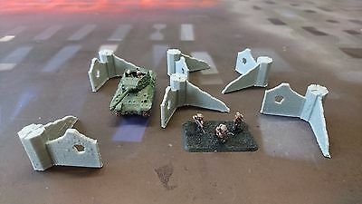 *SCENERY* 15mm scale ruined wall sections - Flames of War etc.
