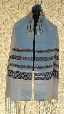 "Talit, Tallit, Prayer Shawl  -  NEW -  18""x 72"" MASADA HAND WOVEN. $ DEAL $"