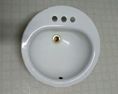 Vintage American Standard white porcelain cast iron drop in sink