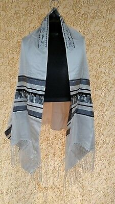 Talit, Tallit,  Prayer Shawl  - NEW - JERUSALEM WOVEN DESIGN - MADE IN ISRAEL -