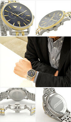 9e736eb30b5 EMPORIO ARMANI Classic Blue Dial Two-tone Stainless Steel Men s Watch AR1847