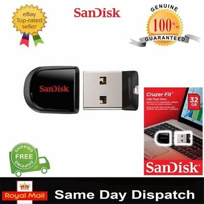 New SanDisk 8GB-128GB Cruzer Fit CZ33 USB 2.0/3.0 Flash Stick Mini Pen Drive UK