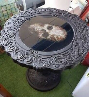 Anne Stokes Oriental Skull Bedside Hall Coffee Table Home Decor Rrp: $298
