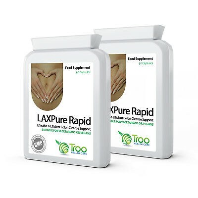 LAXPure Rapid 180 Capsules Support the healthy bowels (2 packs x 90)