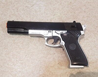 1 X Battery Operated With Light And Sound Plastic Colt Pistol 1911