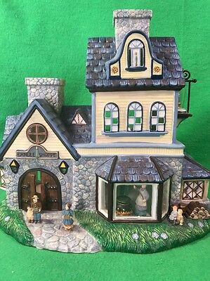 PartyLite Old World Village Candle Shoppe Retired Holds 2 Tealight Candles