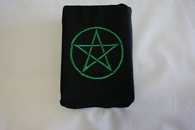 Tarot card crystal wrap altar cloth Wicca Pagan Goth Green
