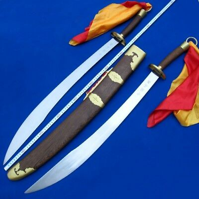 Double blade martial arts KUNG-FU sword Broadsword High Carbon Steel Sharp #016