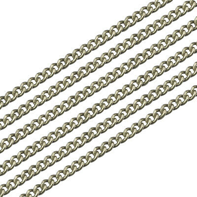 6.5ft Antique Bronze Brass Twisted Curb Chains Oval Link Nickel Free 1.5x1mm