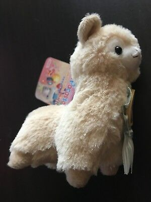 Waku Waku Party Alpacasso Cocoa Brown Alpaca w/ Blue Medal 16cm Plush Arpakasso