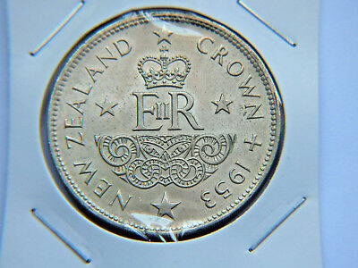 1953 New Zealand Near Unc Crown Coin.