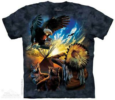 Blessings Of Peace T-Shirt by The Mountain. Native American Tee Sizes S-5XL NEW