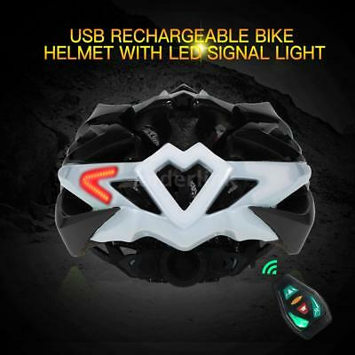 USB Rechargeable Smart Cycling Bike Bicycle Helmet Safety Protective Guard V6O2