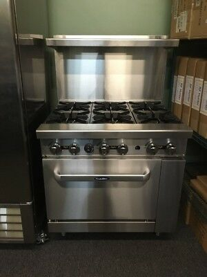 "36"" Commercial 6 Burner Gas Restaurant Range NAT Or LP Gas Range brand new range"
