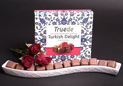Chocolate Coated Rose Flavour Turkish Delight 120g -Gift For Christmas