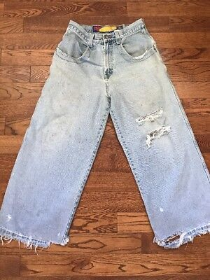 Vintage 90's Distressed JNCO Twin Cannon Skater Jeans - 32 X 27