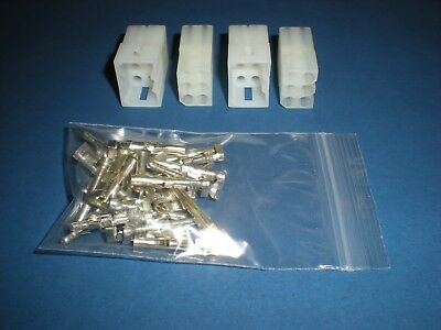 "6 Pin Molex Connector Kit, 2 Sets, w/14-20 AWG .093"" Pins, Free Hanging 0.093"""