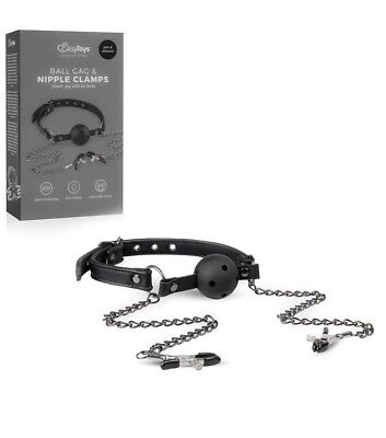 pinze per capezzoli e morso fetish bondage kit gag ball set sexy shop sadomaso