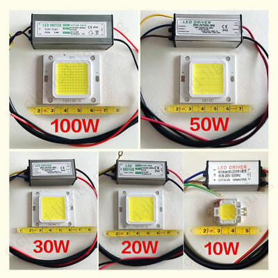 10W20W30W50W70W100W Waterproof High Power LED Driver Supply / LED SMD Chip Bulb