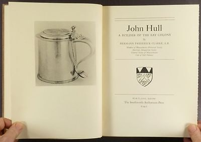 American Massachusetts Colonial Silversmith John Hull - 1940 Limited Edition