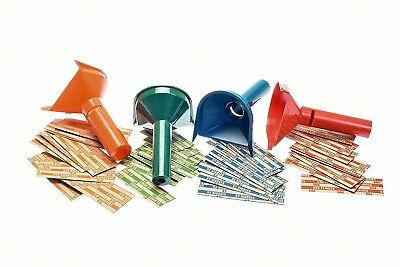 Coin Sorter Change Counter Funnel Shaped Money Roller Auto Assorted Wrappers NEW