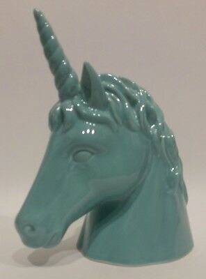 """Target Turquoise Unicorn Horse 8"""" Tall Ceramic Piggy Bank With Coin Slot & TAGS"""