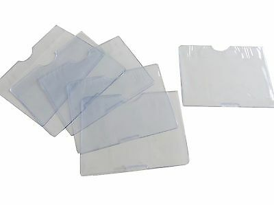 10 x ID Cover Transparent Business Card Holder Double Sided Card Slots