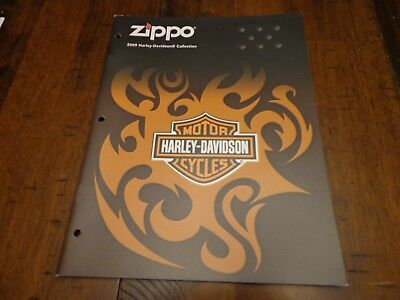 Harley Davidson Zippo Lighter Catalog 2009 Unused