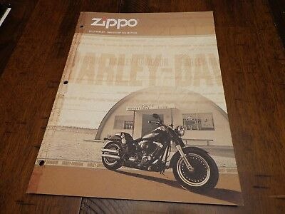 Harley Davidson Zippo Lighter Catalog 2012 Unused