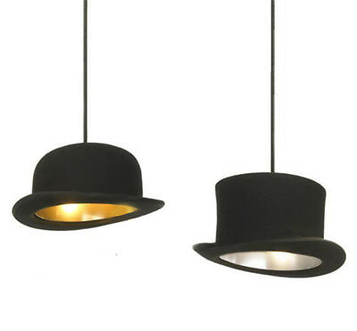 Retro Tall Hat Bowler Pendant Light Ceiling Lamp Lighting Jeeves & Wooster Hat