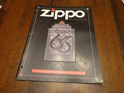 Full Size Zippo Lighter Catalog 1997 Unused