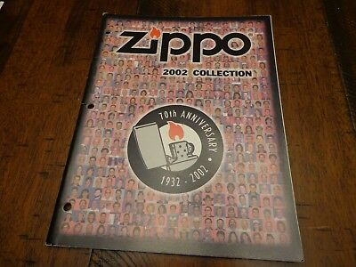 Full Size Zippo Lighter Catalog 2002 Unused