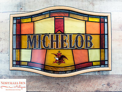 Vintage Michelob Beer Sign |Michelob Stained Glass Plastic Sign | Breweriana