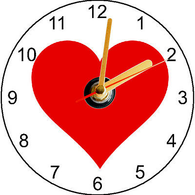 Cd Clock - Heart - Can Be Personalised