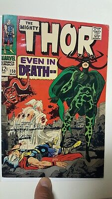 The Mighty Thor #150; FN (6.0), 1st Hela Cover, Thor Ragnarok; WOW!