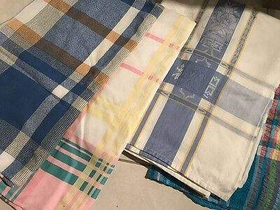 4 x vintage tablecloths Table Cloth Supper Picnic BBQ 50's 70's retro kitsch